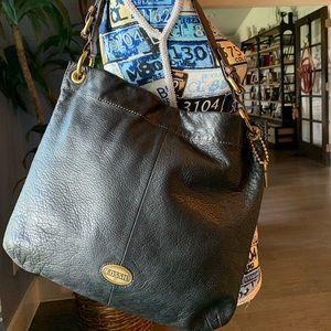 Vintage Fossil Shoulder Bag ❤️ Black Leather EUC!!